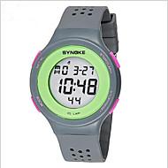 SYNOKE Herre Armbåndsur Digital LCD Kalender Kronograf Vannavvisende alarm Selvlysende Plast Band Svart Rød Grå