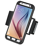 Armband Armband Solide Kleuren PC Hard Armband Phone Case Combo+Night Warning Light Geval voor Samsung Galaxy S7 edge / S7