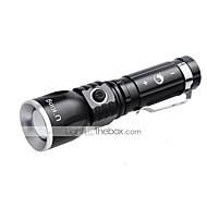 U'King LED Lommelygter Clips Og Beslag LED 1000LM Lumen 3 Tilstand Cree XM-L T6 14500 AA Justerbart Fokus Genopladelig Komapkt Størrelse