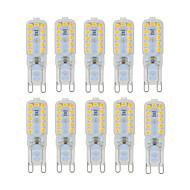 Ywxlight® 10 pc's dimbaar 6w g9 led lampen 22 smd 2835 450-550lm warm / natuurlijk / koel wit AC 220 / 110v