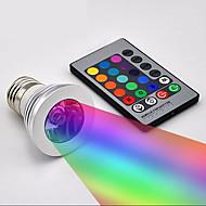 creatief 3W decoratie licht E27 rgb met afstandsbediening dimbaar aluminium kerst 's nachts licht woondecoratie