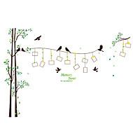 Botanisk Wall Stickers Fly vægklistermærker Dekorative Mur Klistermærker / Foto klistermærker,pvc MaterialeKan fjernes / Kan