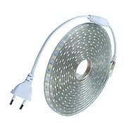 20m / 1 Adet 220V 5050 esnek bant ip ışık şeridi Noel su geçirmez bahçe açık lightingeu eu fiş dış mekan LED