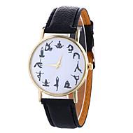 Dames Dress horloge Modieus horloge Polshorloge Kwarts / PU Band camouflage Zwart Wit Blauw Rood Bruin Groen Ivoor Goud RoseBeige Roos