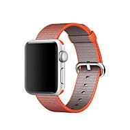 Watch bånd til æble ur 42mm 38mm klassisk spænde vævet nylon udskiftning armbånd stroppe
