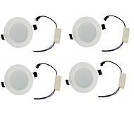 LED Χωνευτό Σποτ Θερμό Λευκό / Ψυχρό Λευκό LED 4 τμχ