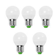 5pcs 6,5w e14 / e26 / e27 levou globo lâmpadas g45 12 smd 2835 600 lm branco quente / branco brilhante decorativo 220-240v