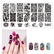 1ps nail art zegel sjabloon nagel kant pattren 12x6cm