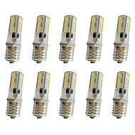 10 τεμ 3w e17 διακόσμηση φως t 64λεπτό 3014smd 250-350lm ζεστό λευκό / δροσερό λευκό dim1 ac110v / 220 v