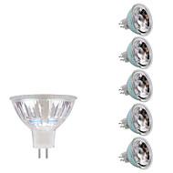 3W GU5.3(MR16) LED Σποτάκια MR16 1 COB 230/240 lm Θερμό Λευκό Ψυχρό Λευκό DC 12 AC 12 V 6 τμχ