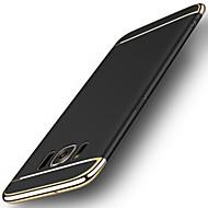 Para Galvanizado Áspero Capinha Capa Traseira Capinha Cor Única Rígida PC para Samsung S8 S8 Plus