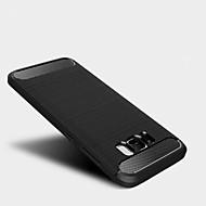 Para Antichoque Capinha Capa Traseira Capinha Cor Única Macia TPU para Samsung S8 Plus S8 S7 edge S7 S6 edge S6