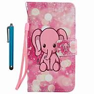 Veske deksel kortholder lommebok med stativ flip mønster full body veske med stylu elefant hard pu lær for Apple iPhone 7 pluss 7 6s pluss