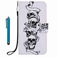 For veske deksel kortholder lommebok med stativ flip mønster full body veske med stylus skalle hard pu lær for eple iphone 7 pluss 7 6s