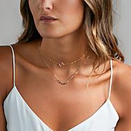 Naisten Choker-kaulakorut layered Kaulakorut Korut Metalliseos Yksinkertainen pukukorut Korut Käyttötarkoitus Häät Party Syntymäpäivä