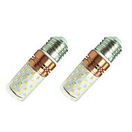 8W LED-maïslampen T 60 SMD 2835 800 lm Warm wit Wit 110 V 2 stuks
