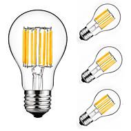 10W LED Λάμπες Πυράκτωσης A60(A19) 10 COB 900 lm Θερμό Λευκό Ψυχρό Λευκό Διακοσμητικό AC 175-265 V 4 τμχ