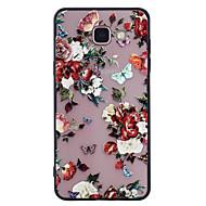 Dla samsung galaxy a5 (2017) a3 (2017) obudowa telefonu kombi motyl kwiatowy wzór malowany lakier wytłaczany skrzynka telefonu peeling a5