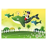 Legpuzzels Legpuzzel Bouw blokken DHZ-speelgoed Vissen Cartoon Bloem Ster