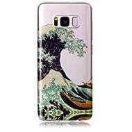 Kotelo samsung galaxy s8 s8 plus kotelon suojus aallot kuvio korkea läpinäkyvä tpu materiaali imd alus sifonki puhelinkotelo s6 s6 reuna