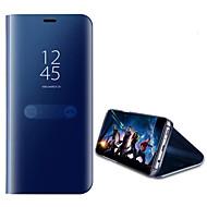 Hoesje voor Samsung Galaxy J3 (20j7) j5 (2017) met staande Plating Spiegel Flip Auto Slaap Wakker Volle Lichaam Gewone Kleur harde pc j7