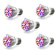 5W E14 GU10 E27 LED-kweeklampen 28 SMD 5730 800 lm Warm wit Wit Rood Blauw AC 85-265 V 5 stuks