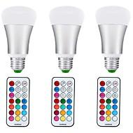10W LED Λάμπες Σφαίρα A70 1 COB 1000 lm RGB + θερμό Με ροοστάτη Διακοσμητικό V 3 τμχ E27
