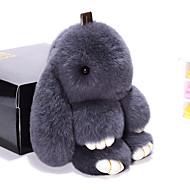 Táska / telefon / kulcstartó baba nyúl karikatúra játék rex nyúl szőrme 19cm