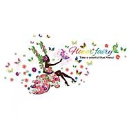 Romantik Blomster fantasi Veggklistremerker Fly vægklistermærker 3D Mur Klistremerker Dekorative Mur Klistermærker 3D,Papir Vinyl