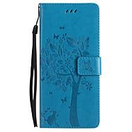 kotelon kannen kortin haltija lompakko, jossa seisomainen käännettävä kohokuvioitu koko kehon tapaus perhonen puu kova PU nahkaa varten
