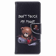 hoesje voor Samsung Galaxy Note 8 woord kaarthouder pu portefeuille lederen kaart tas met patroon