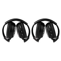 2 stk infrarød stereo bil trådløse hovedtelefoner ir-2011d