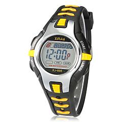 Gyerekek Sportos óra digitális karóra Digitális LCD Naptár Kronográf riasztás Gumi Zenekar Fekete Piros Orange Zöld Pink SárgaSárga Piros
