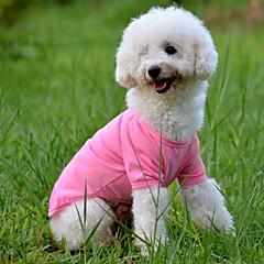 honden T-shirt Rood / Oranje / Geel / Groen / Blauw / Roze Hondenkleding Zomer Effen