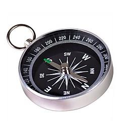 Anahtarlık ile Taşınabilir Metal Pusula (Large) - Gümüş