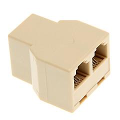 Τηλέφωνο Cable 1-προς-2 Θηλυκό-Θηλυκό Spliter Μούφα (Κίτρινο)