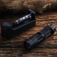 LED zseblámpák Kézi elemlámpák LED 450 Lumen 1 Mód Cree XR-E Q5 14500 AA Állítható fókusz Kempingezés/Túrázás/Barlangászat Mindennapokra
