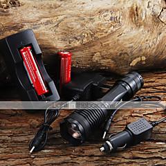 LED zseblámpák / Kézi elemlámpák LED 5 Mód 2000 Lumen Állítható fókusz Cree XM-L T6 18650 / AAAKempingezés/Túrázás/Barlangászat /