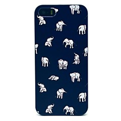 For iPhone 5 etui Mønster Etui Bagcover Etui Elefant Hårdt PC for iPhone 7 Plus iPhone 7 iPhone SE/5s/5