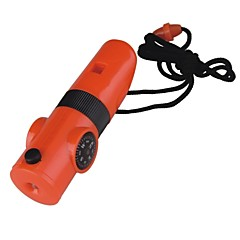 Survival Whistle Wandelsport Multi Function / Fluitje Kunststof Oranje