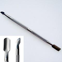 aço inoxidável de dupla utilização empurrador de pele morta e calos removedores ferramenta removedor de unha unhas de acrílico