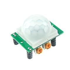 Arduino UNO R3 Mega 2560 Nano için HC-SR501 İnsan Sensör Modülü Pyroelektrik Kızılötesi