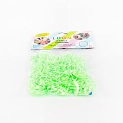 zielone pasy wiązka losowy kolor gumki (200szt zespoły, hak 12szt s, 1szt szydełko)
