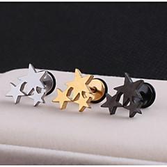 Κουμπωτά Σκουλαρίκια Ανοξείδωτο Ατσάλι Star Shape Κοσμήματα Γάμου Πάρτι Καθημερινά Causal Αθλητικά