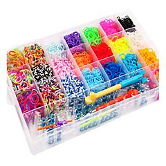 szivárvány színes szövőszék nagy mérete 28 sejtek többszínű gumiszalagot (4200 db) és a csatlakozó