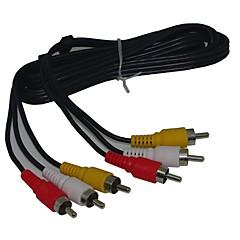 4ft 3 RCA Stereo Video Composite-kabel man op man