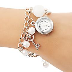 Dames Modieus horloge Armbandhorloge Kwarts Legering Band Parels Wit Wit