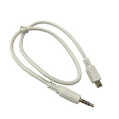 details over 3.5mm stereo naar mini-USB-kabel voor draagbare speaker audio