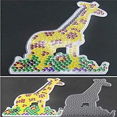 1db sablon világos biztosíték gyöngyök pegboard zsiráf minta 5mm hama gyöngyök DIY kirakós