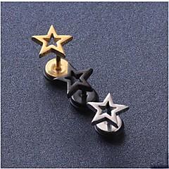 Κουμπωτά Σκουλαρίκια Τιτάνιο Ατσάλι Star Shape Μαύρο Ασημί Χρυσαφί Κοσμήματα Γάμου Πάρτι Καθημερινά Causal